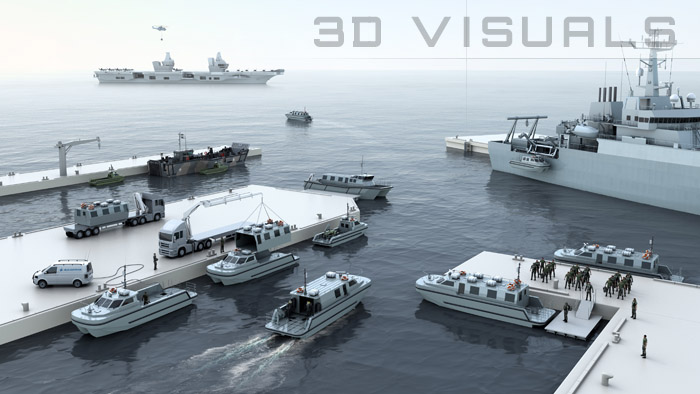 Vahana Royal Navy Workboat CGI visualisation