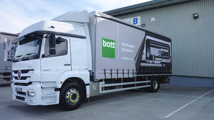 Large format 3D graphics for Bott marketing - livery on truck fleet