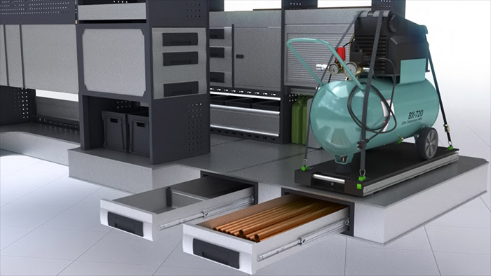 CGI Animated video for industrial modular racking system